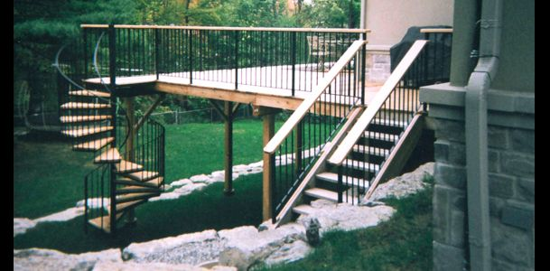Iron railings stairs